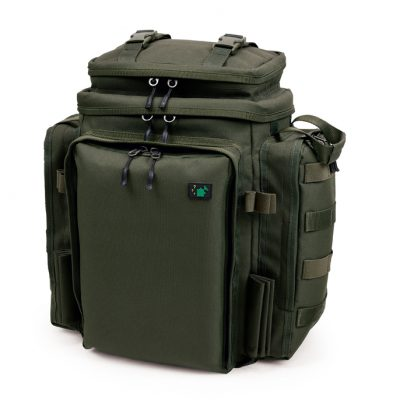 A compact rucksack, designed for short-session fishing, overnighters or even roving river trips. It's packed with great features including well-placed internal pockets and outerbankstickholders. The Rucksack is box-shaped so it stands freely on its own and can be used as a table at the side of your bed. The shape also makes it very barrow friendly.FEATURES INCLUDE:•Bankstick holders•Elastic storage loops•Hard base•Internal pockets•Doubled zipped•Lifting handlesSize: H33cm W30cm D20cm